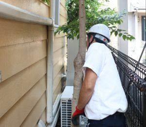 東京都国立市K様邸の外壁調査