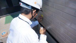 外壁の調査と共に汚れを拭き取りました|神奈川県川崎市宮前区A様邸