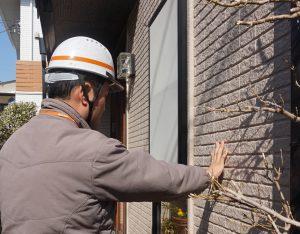 外壁サイディングボードを調査しま した|東京都杉並区成田東M様邸
