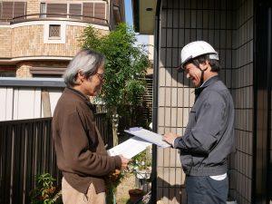 油性塗料で塗装した屋根の状態を調査しました|東京都練馬区大泉O様邸
