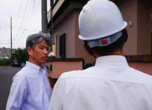 ジョリパット外壁の調査を行いました。|神奈川県横浜市青葉区K様邸