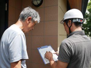 カラー鉄板の屋根と外壁の調査を行いました。|東京都調布市若葉町Y様邸